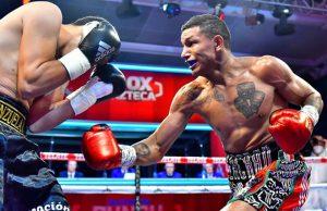 WBC Super Featherweight champion Miguel Berchelt outclassed Eleazar Valenzuela in Mexico City Photo Credit: Zanfer Promotions