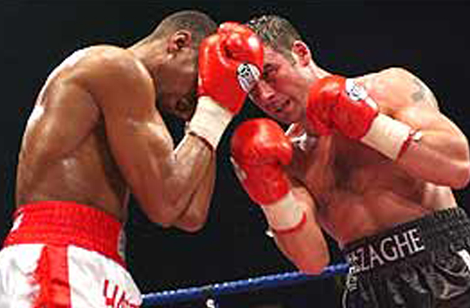 Calzaghe made a 10th successful defence against former World champion Charles Brewer in 2002 Photo Credit: BBC Sport