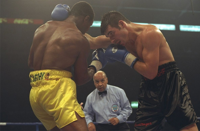 Joe Calzaghe's acid test was against Chris Eubank. Photo Credit: Bad Left Hook