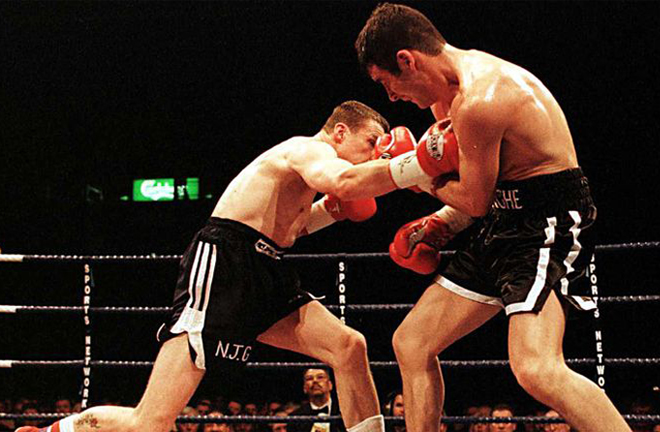 Calzaghe proved too much as he stopped Richie Woodhall in Sheffield in 2000 Photo Credit: Sky Sports