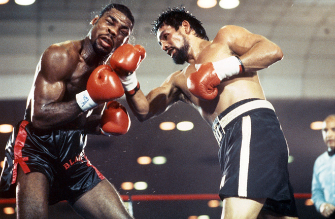 Durán claimed his final World title winning the WBC Middleweight crown against Iran Barkley in 1989 Photo Credit: Boxrec