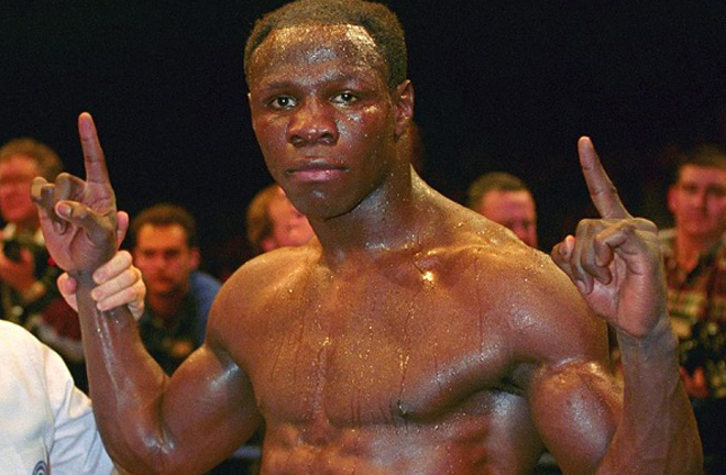 Stretch fell short in his World title bid against Chris Eubank in 1991 Photo Credit: thefightcity.com