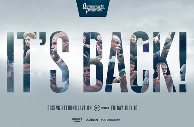 Frank Warren and Queensberry boxing is back!