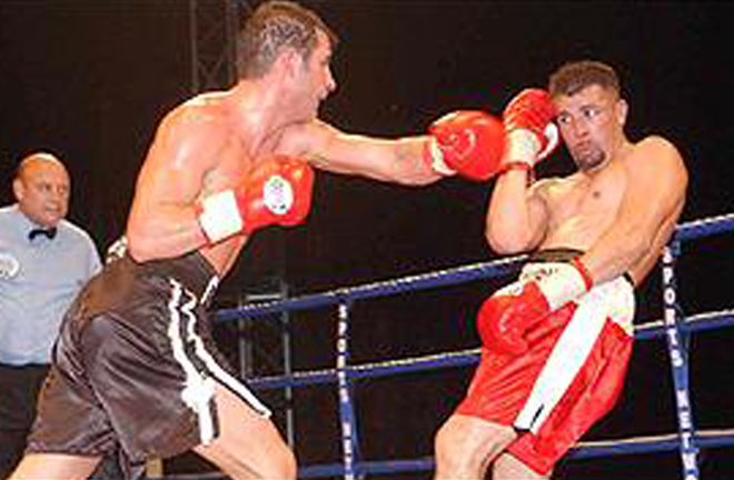 Calzaghe defended his belt for an 11th time against Miguel Ángel Jiménez Photo Credit: BBC Sport