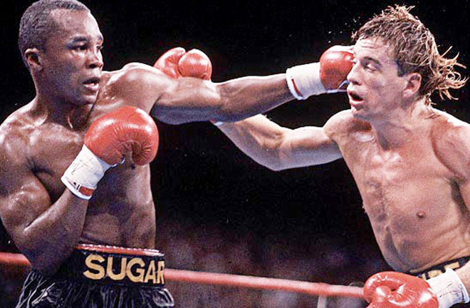 Ray took on Donny Lalonde in the first ever WBC Super-Middleweight World title bout. Photo Credit: Boxing News