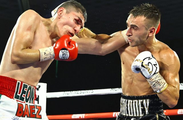 Jason Moloney forced a stoppage victory in Las Vegas as he mounts another World title tilt Photo Credit: Mikey Williams/Top Rank