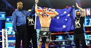 Jason was joined alongside brother Andrew Moloney who was beaten on Tuesday in the same venue Photo Credit: Mikey Williams/Top Rank