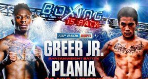 Josh Greer Jr will take on Mike Plania. Credit: Top Rank
