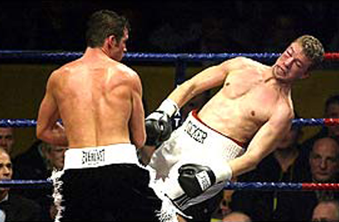 Tocker Pudwill proved no challenge to Calzaghe in 2002 Photo Credit: BBC Sport