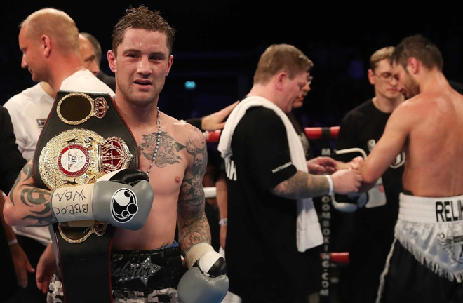Burns after defeating Kiryl Relikh in a WBA World title bout. Photo Credit: RTE