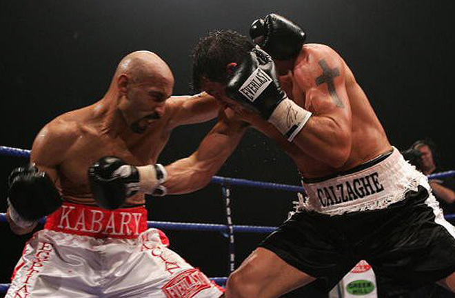 Calzaghe completed a WBO World title defence against Kabary Salem in Edinburgh in 2004 Photo Credit: 234fight.com
