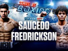 Alex Saucedo vs Sonny Fredrickson. Credit: Top Rank