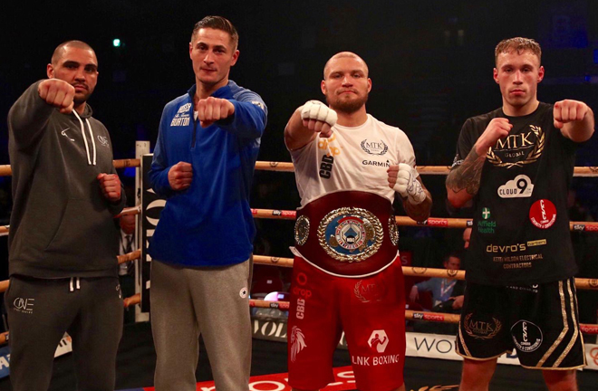 From L to R, Serge Michel, Hosea Burton, Ricards Bolotniks and Liam Conroy make up the last four of the Golden Contract Photo Credit: MTK Global