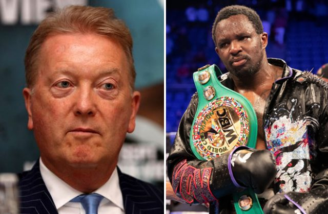 Frank Warren has expressed his sympathy for Dillian Whyte as World title shot eludes him