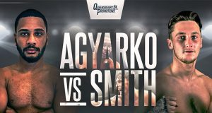 Caoimhin Agyarko will take on Jez Smith live from the BT Studio on Friday night in the third of Frank Warren's post-lockdown summer series. Photo Credit: Frank Warren