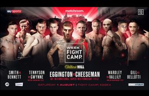 Sam Eggington faces Ted Cheeseman as Matchroom return in 'Fight Camp' on Saturday night Photo Credit: Matchroom Boxing