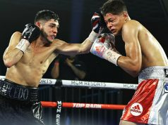 Alex Saucedo scored an unanimous points victory over Sonny Fredrickson. Photo Credit: Mikey Williams / Top Rank