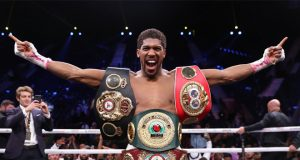 Anthony Joshua has played down concerns over a knee injury Photo Credit: Matchroom Boxing