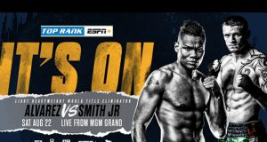 Eleider Alvarez will face Joe Smith Jr in a WBO Light-Heavyweight title eliminator on August 22nd Photo Credit: Top Rank
