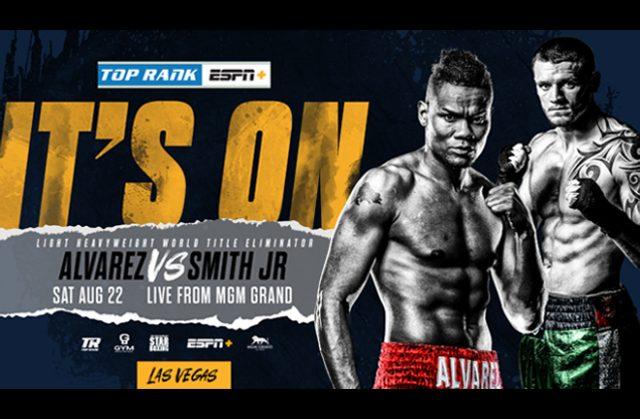 Eleider Alvarez will face Joe Smith Jr in a WBO Light-Heavyweight title eliminator on August 22nd Photo Credit: Top Rank