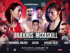 Cecilia Brækhus's undisputed Welterweight title defence against Jessica McCaskill will headline in Tulsa on August 15 Photo Credit: Matchroom Boxing