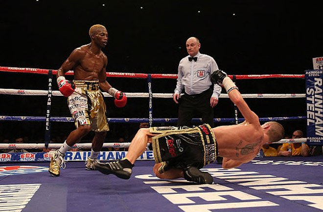 Paul Butler was stopped emphatically by Zolani Tete. Photo Credit: Telegraph