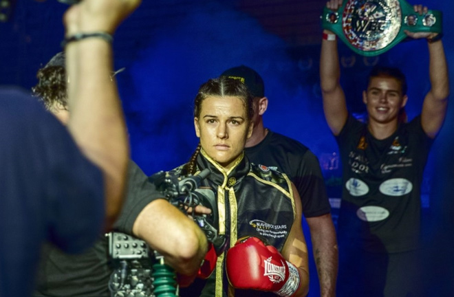 Chantelle Cameron has set her sights on Katie Taylor after signing with Matchroom Boxing. Photo Credit: Boxing Scene