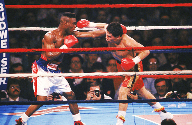 Steele refereed the unification clash between Meldrick Taylor and Julio Cesar Chavez in 1990 Photo Credit: Boxrec