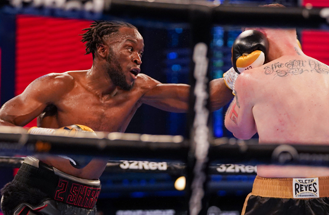 Denzel Bentley battled past Mick Hall who retired after six rounds Photo Credit: Queensberry Promotions