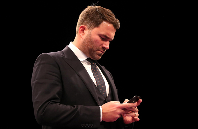 Eddie Hearn revealed he wanted Kongo vs Clay via Instagram live. Photo Credit: The Sun