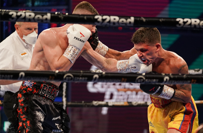 Foster was tested throughout by his game opponent Photo Credit: Queensberry Promotions