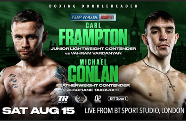 Carl Frampton and Michael Conlan return to the ring on August 15 Photo Credit: Top Rank
