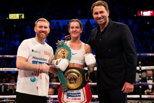 Tasha Jonas will clash with the WBC Super Featherweight champion Terri Harper this Friday Photo Credit: Mark Robinson/Matchroom Boxing