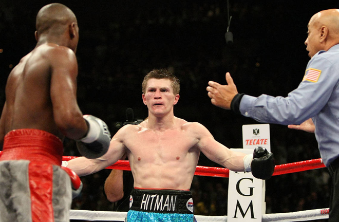 Ricky Hatton's Welterweight World title defeat to Floyd Mayweather Jr in 2007 is Wardley's earliest fight memory Photo Credit: www.boxingnewsonline.net