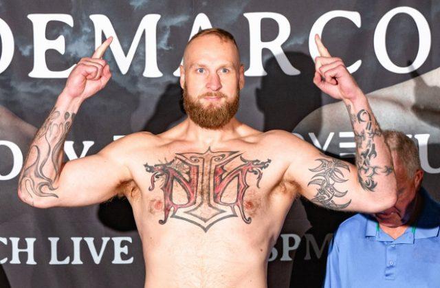 Robert 'The Nordic Nightmare' Helenius. Photo Credit: Boxing Scene