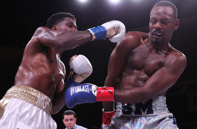 LesPierre was unsuccessful in his bid for Maurice Hooker's old WBO World Super Lightweight title Photo Credit: Ed Mulholland/Matchroom Boxing USA