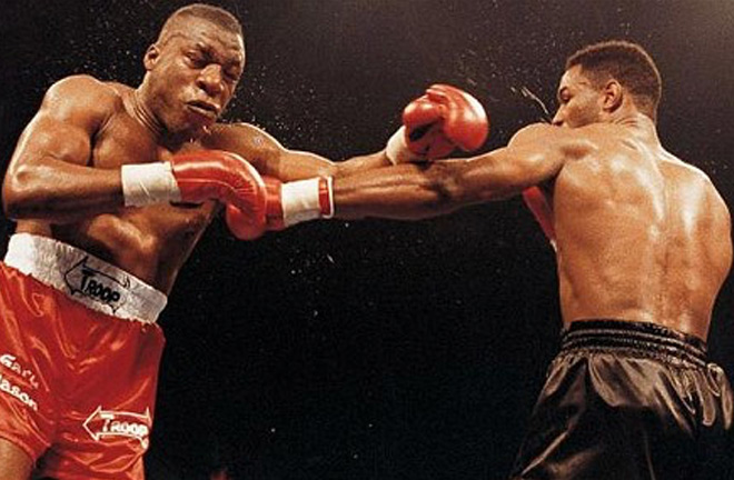 Lennox Lewis claimed the British title with a win over Gary Mason. Photo Credit: Boxrec