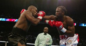 Lennox Lewis cemented his legacy by stopping Mike Tyson in Memphis in 2002 Photo Credit: givemesport.com