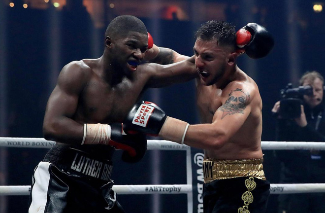 Luther Clay showcasing his skills on the undercard of a WBSS show. Photo Credit: Boxing Insider.