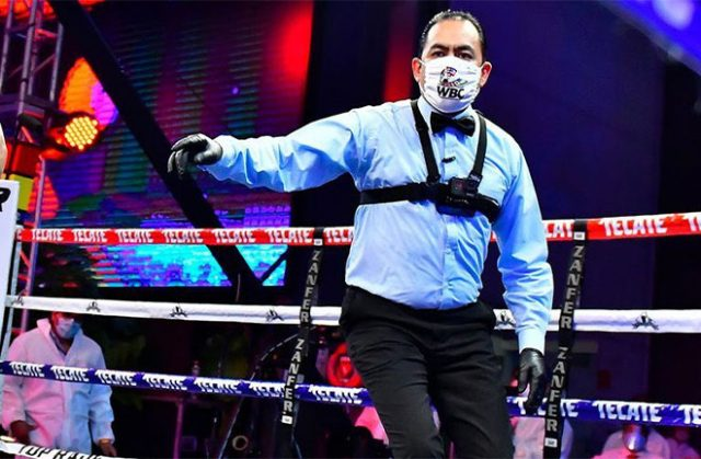The WBC request a review of face masks being worn by referees. Photo Credit: WBC