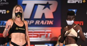 Mikaela Mayer will headline the Top Rank card against Helen Joseph after recovering from Coronavirus Photo Credit: Mikey Williams/Top Rank