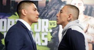 Vergil Ortiz and Samuel Vargas clash in Golden Boy's return in Indio on Friday night Photo Credit: www.boxingnews24.com