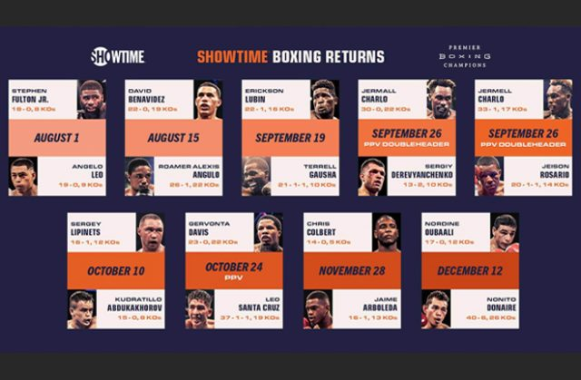 Premier Boxing Champions have announced their return on August 1 on SHOWTIME Photo Credit: PBC