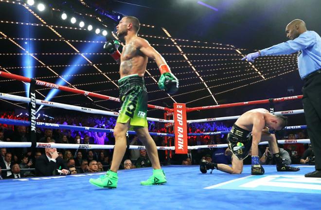 'Sniper' fell short against Vasiliy Lomachenko in 2018 Photo Credit: Boxing Scene