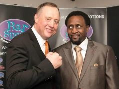 Scott Murray and 'The Hitman' Thomas Hearns. Photo Credit: Scott Murray