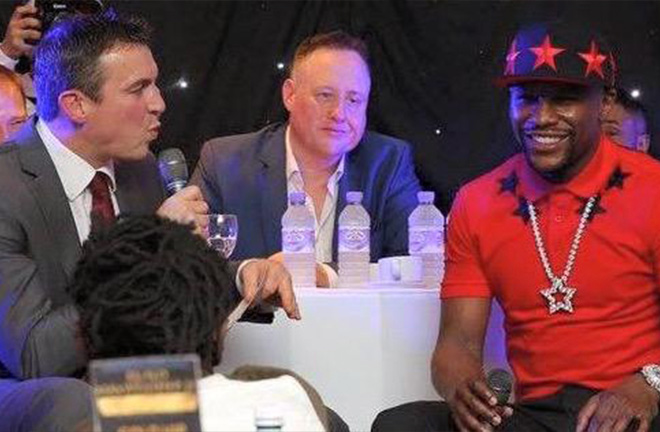 Ritchie Woodhall, Scott Murray and Floyd Mayweather at one of Scott's famous events. Photo Credit: Scott Murray