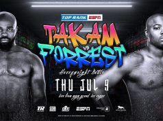 Carlos Takam takes on Jerry Forrest as a last minute replacement for disgraced Jarrell Miller. Photo Credit: Top Rank