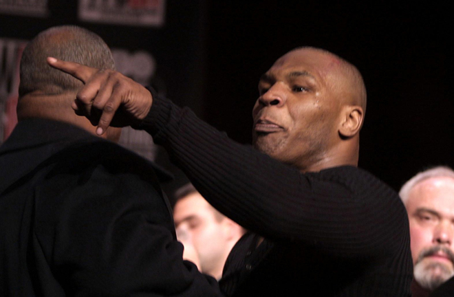 Tyson had his licence revoked by the Nevada State Athletic Commission after brawling with Lewis at a press conference Photo Credit: talksport.com