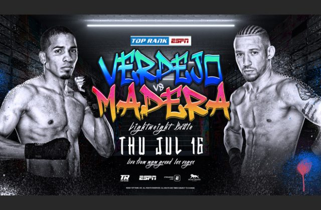 Felix Verdejo's clash with Will Madera has been elevated to main event after Marriaga-Yap was cancelled Photo Credit: Top Rank