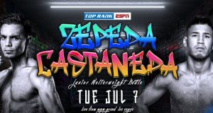 Zepeda vs Castaneda live from the MGM Grand, 'The Bubble.' Credit: Top Rank